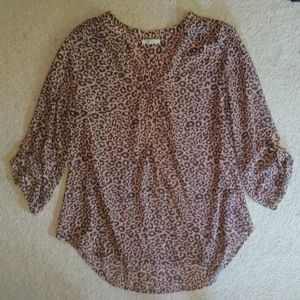 Leopard print Maurices women's blouse